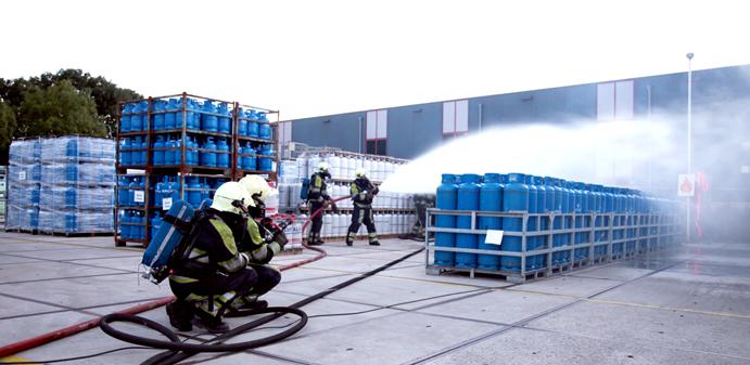 oefening brandweer